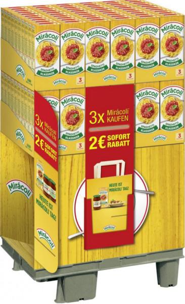 3 Portionen Spaghetti mit Tomatensoße (120 x 0.397 Kilogramm)