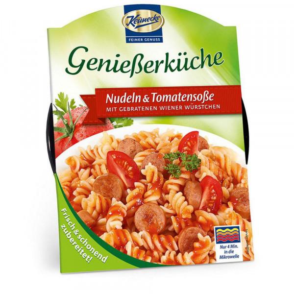 "Nudeln & Tomatensoße ""Genießerküche"", mit Wiener"