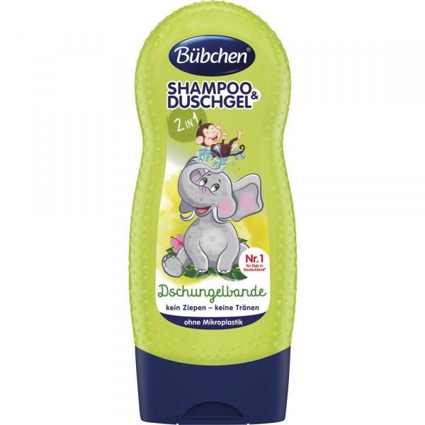 Kinder 2in1 Shampoo + Duschgel, Dschungelbande