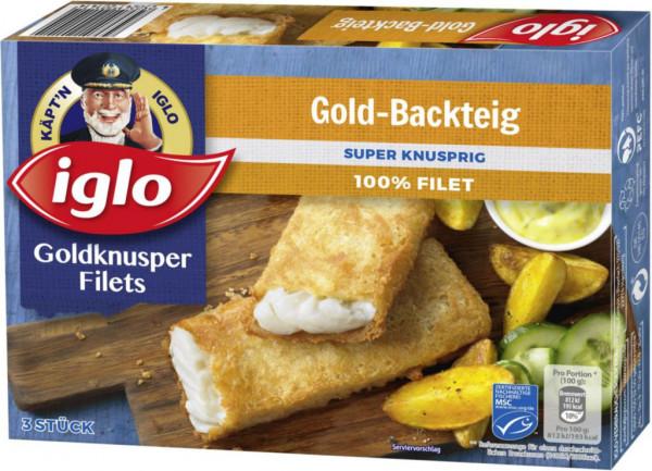 Goldknusper-Filets Gold-Backteig, tiefgekühlt