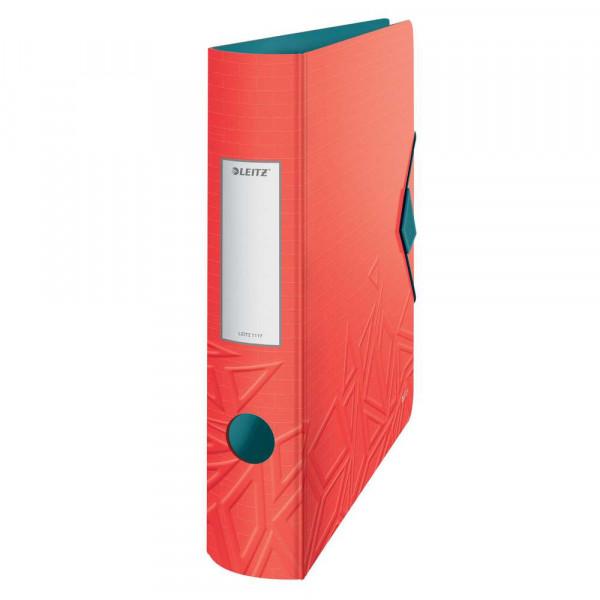Ordner, rot, Kunststoff, 6,5 cm, DIN A4
