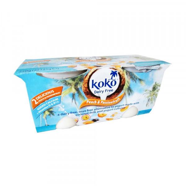 Kokos-Joghurtalternative, Pfirsich-Maracuja 2 x 125g