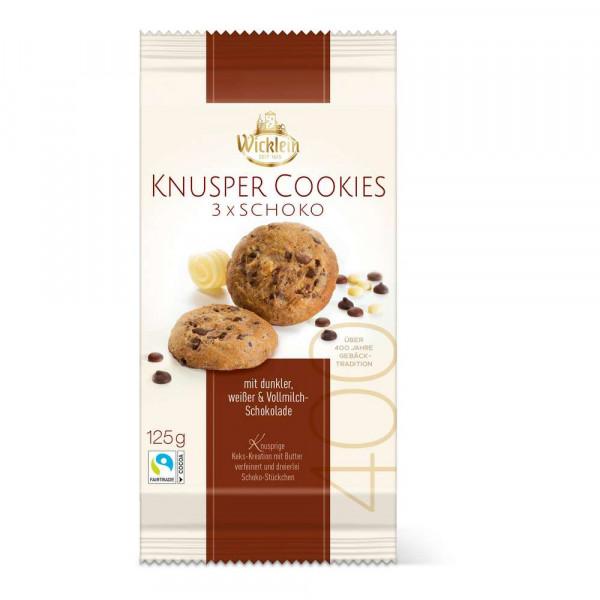 "Knusper Cookies ""3fach schokoladig"""