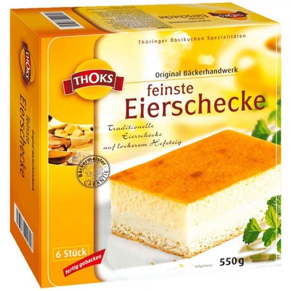 Eierschecke Kuchenschnitten, tiefgekühlt