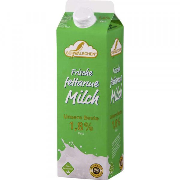 Frische fettarme Milch, länger haltbar 1,8% Fett