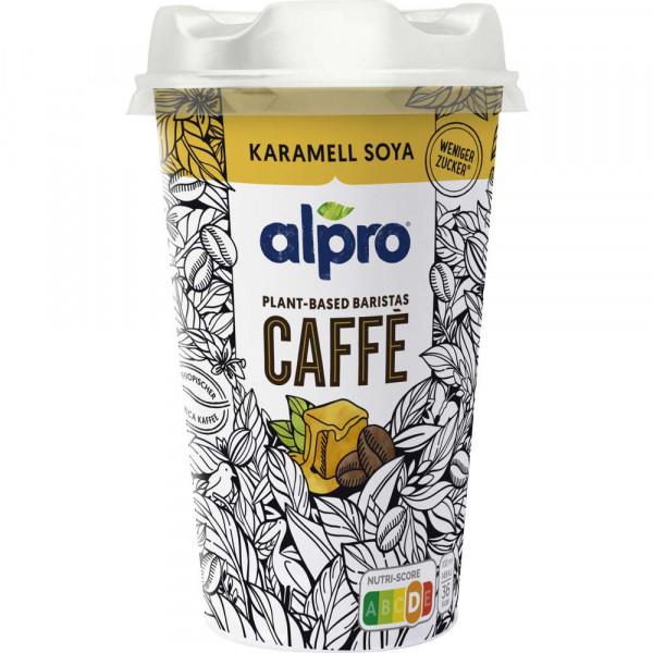 Kaffee mit Sojadrink Karamell
