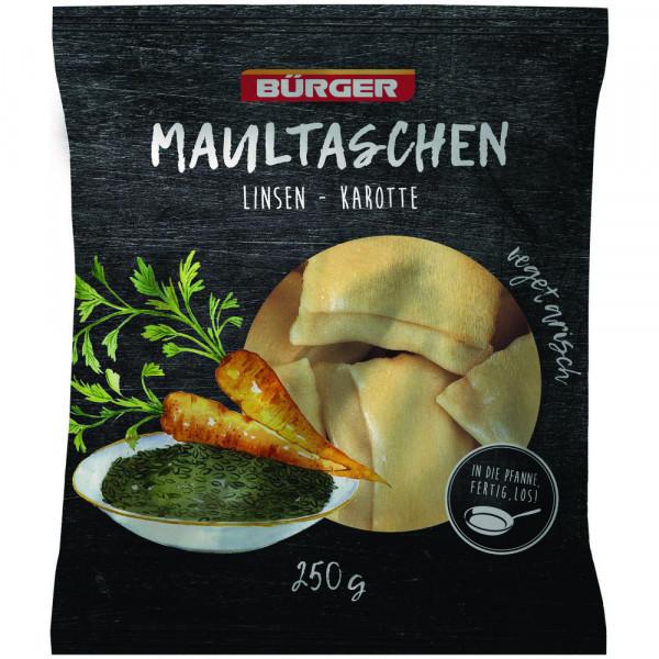 Linsen-Karotten-Maultaschen