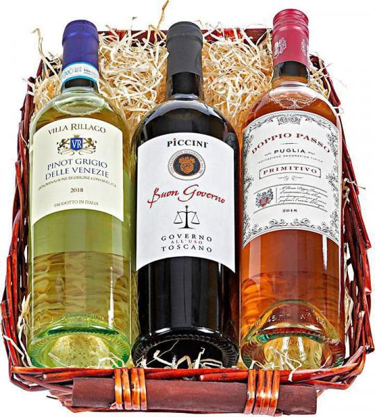 Präsentkorb Wein