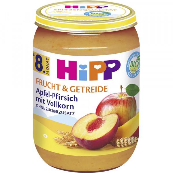 """Babynahrung """"Frucht & Getreide"""", Apfel/Pfirsich mit Vollkorn"""
