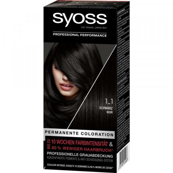Haarfarbe, 1_1 Schwarz