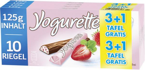 Schokoriegel mit Joghurt Füllung, Erdbeer