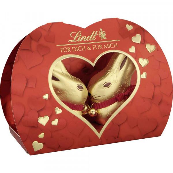 Schokoladen-Goldhase in Geschenkbox