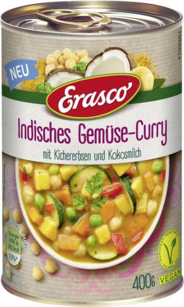 Indisches Gemüse-Curry mit Kichererbsen & Kokosmilch