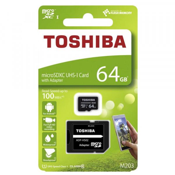 """MicroSDXC Exceria 64GB """"M203"""" UH"""