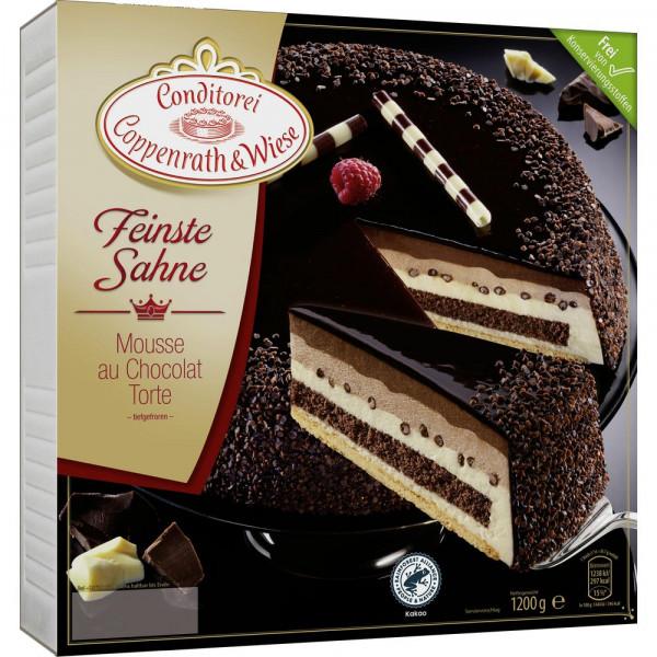 Feinste Sahne Torte Mousse au Chocolat, tiefgekühlt