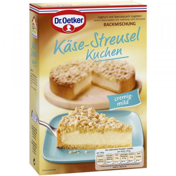 Backmischung, Käse-Streusel-Kuchen