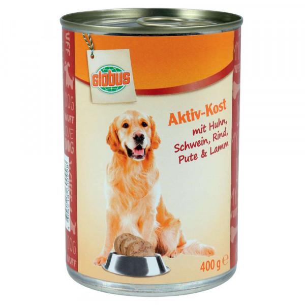 Hundefutter Aktiv Kost, 5 Sorten Fleisch