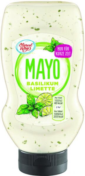 Mayonnaise, mit Basilikum und Limette