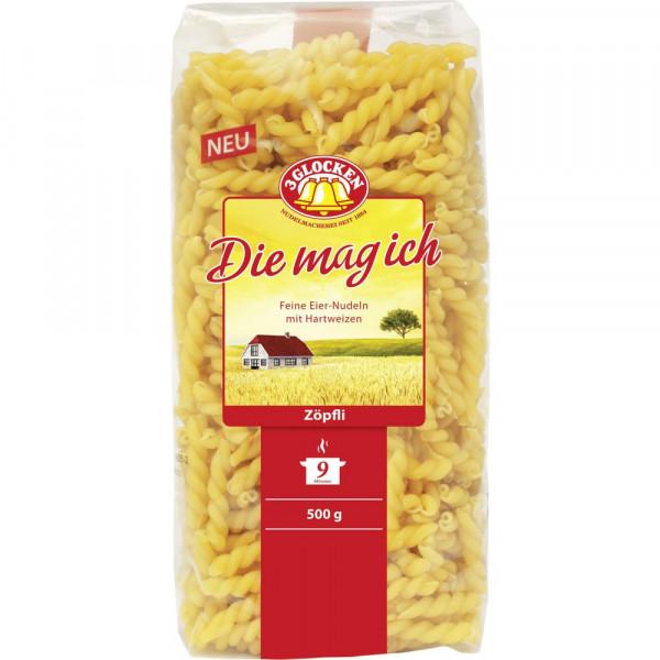 """Nudeln """"Die mag ich"""", Zöpfli"""
