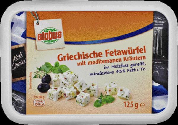 Fetawürfel, mediterrane Kräuter