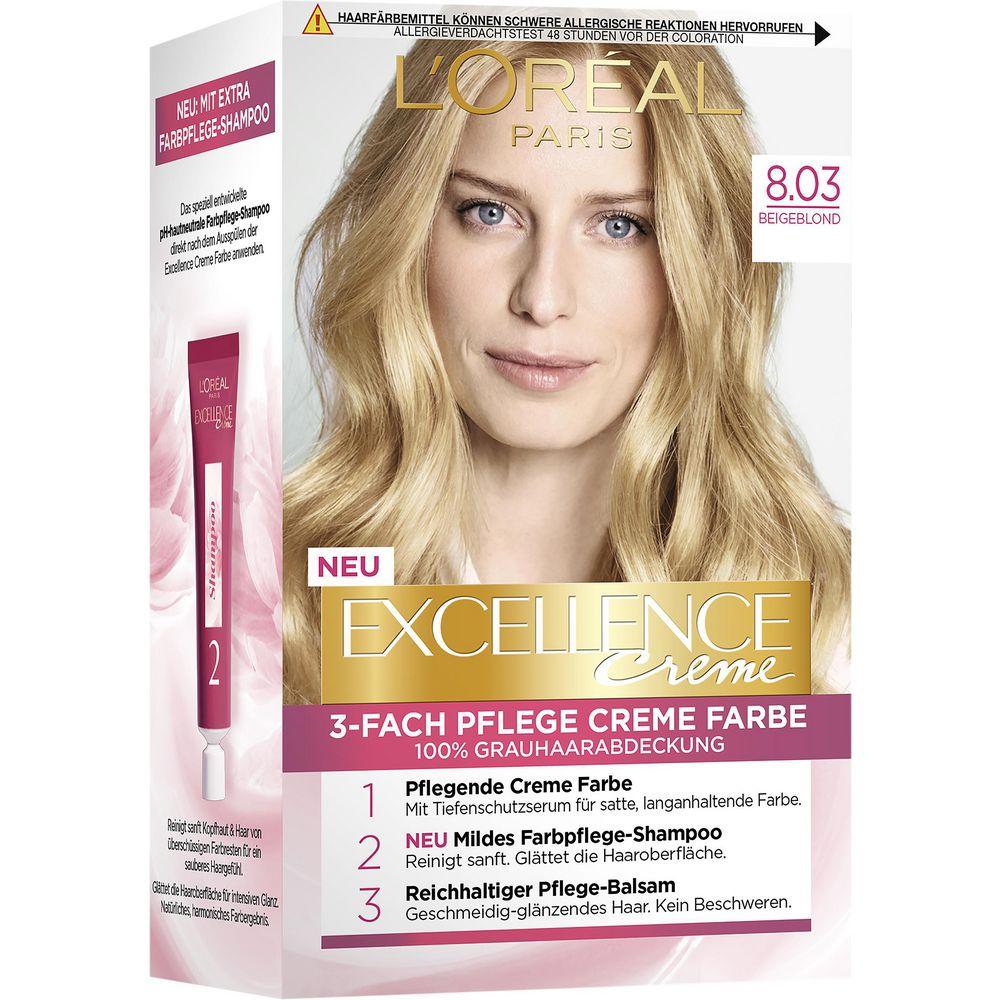 Haarfarbe Excellence, 8.03 Beigeblond von LOreal Paris