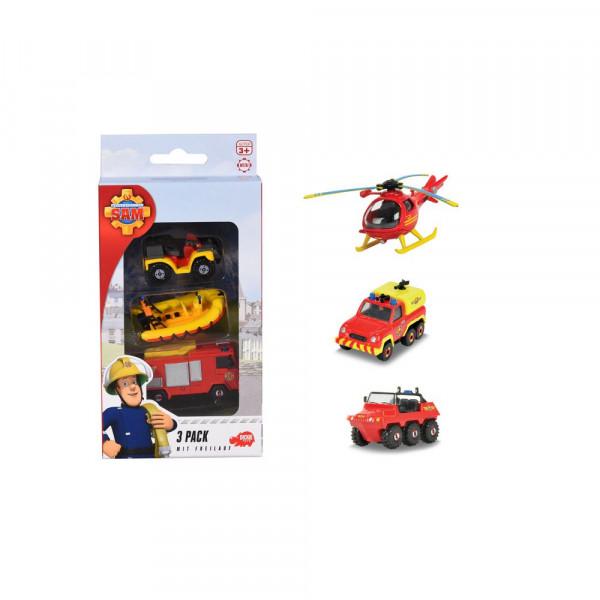 Feuerwehrmann Sam 3 Pack, Set mit 3 verschiedenen Metallfahrzeugen