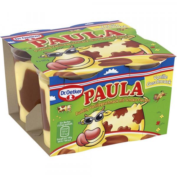 """Pudding """"Paula"""", Vanille-Schoko 4 x 125g"""