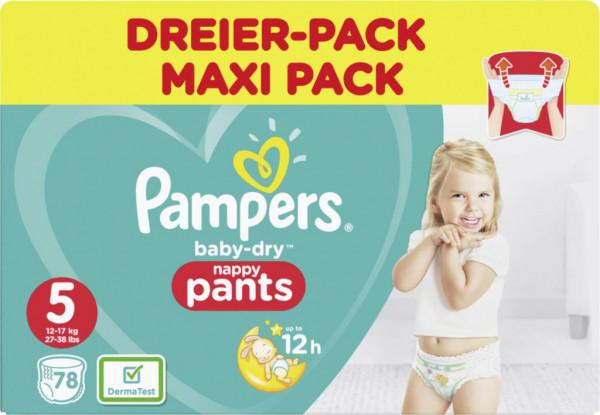 Windeln Baby Dry Pants Gr. 5 Junior Dreierpack, 12-17kg