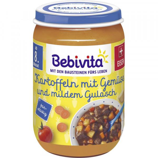 Babynahrung Menü, Kartoffel/Gemüse/Gulasch