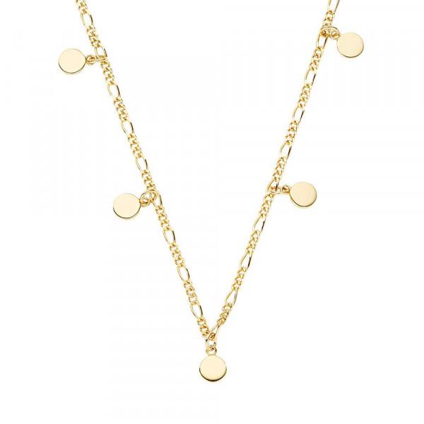 Damen Halskette mit Anhänger aus Silber 925, vergoldet (4056866113831)