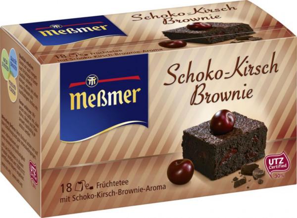 Tee, Schoko-Kirsch-Brownie
