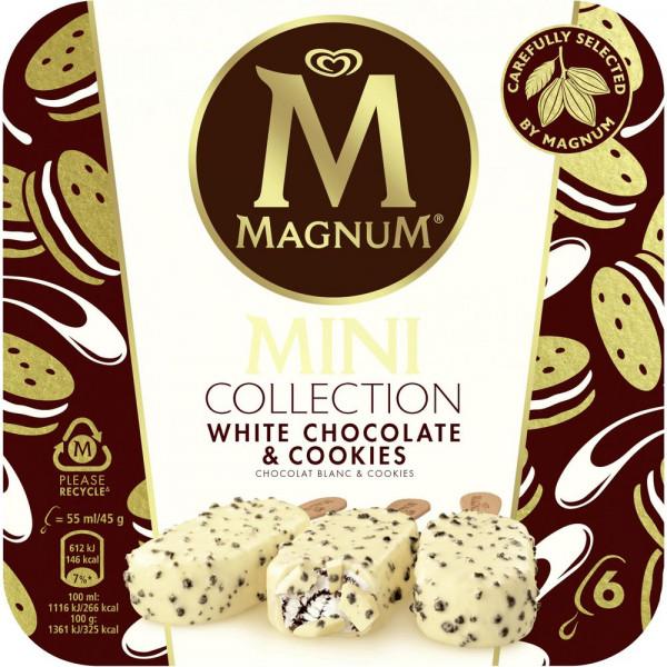 "Mini-Stieleis ""Magnum"", White Chocolate & Cookies"