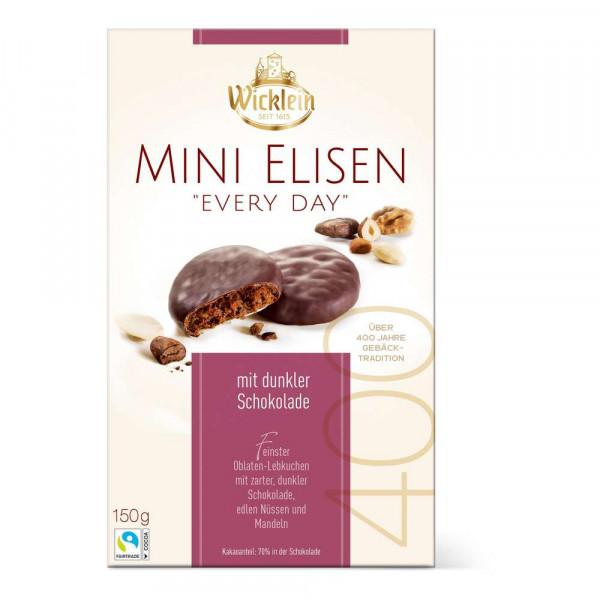 Lebkuchen, Mini Elisen mit dunkler Schokolade