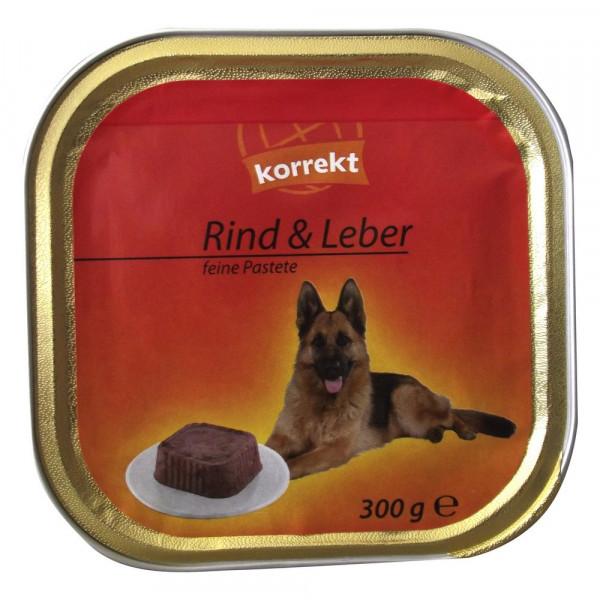 """Hundefutter """"Feine Pastete"""", Rind & Leber"""