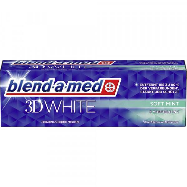 Zahncreme 3D white, soft mint