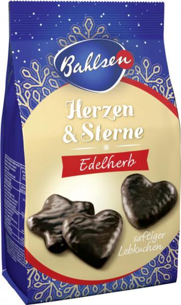 Herzen- & Sterne-Lebkuchen mit Überzug aus edelherber Schokolade