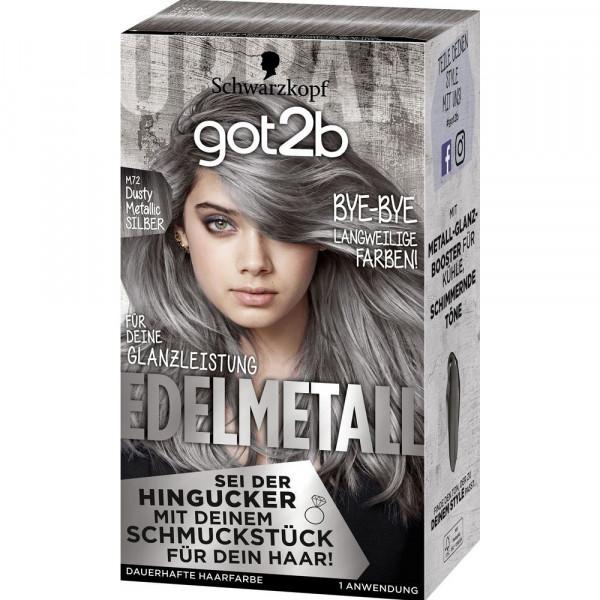 "Haarfarbe ""got2b"", M72 Dusty Metallic Silber"