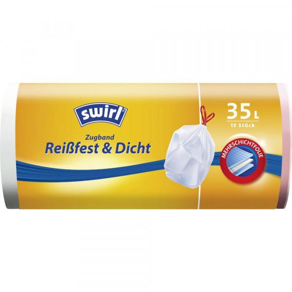 Müllbeutel mit Zugband Reißfest & Dicht, 35l