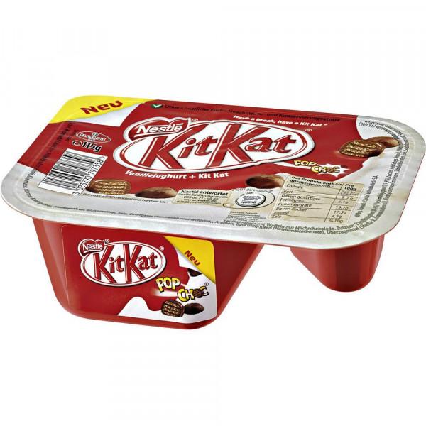 Vanillejoghurt + Kit Kat