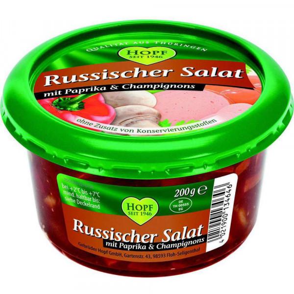 Russischer Salat mit Paprika & Champignons