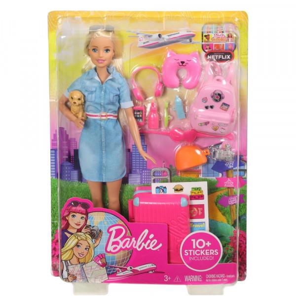 """Barbie """"Reise"""" Puppe (blond) und Zubehör"""