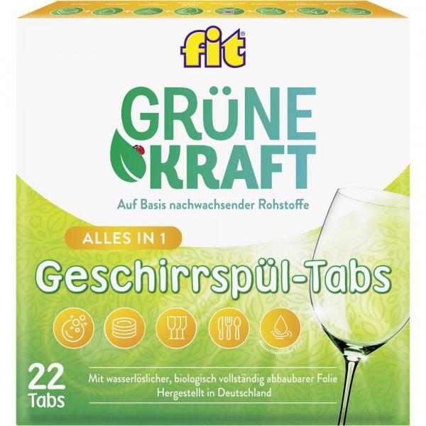 Grüne Kraft Geschirrspül-Tabs, Alles in 1