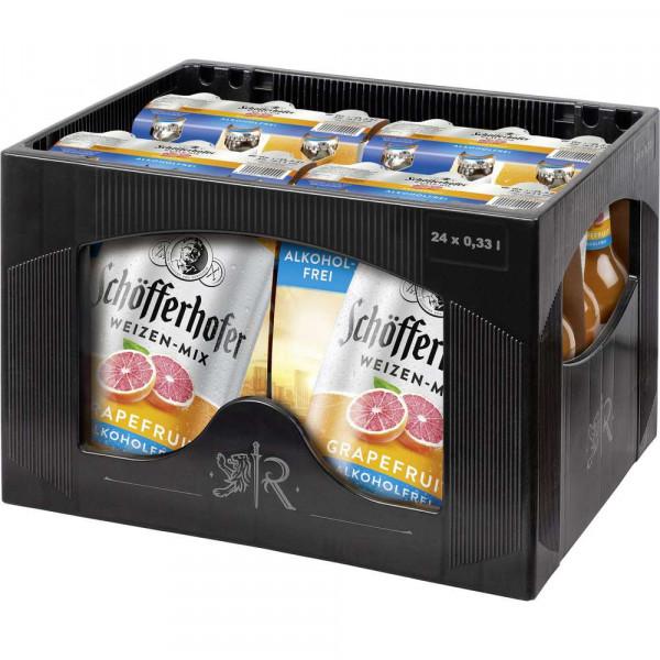 Alkoholfreier Weizenbier-Mix, Grapefruit, 6 x 0,33l (4 x 1.98 Liter)