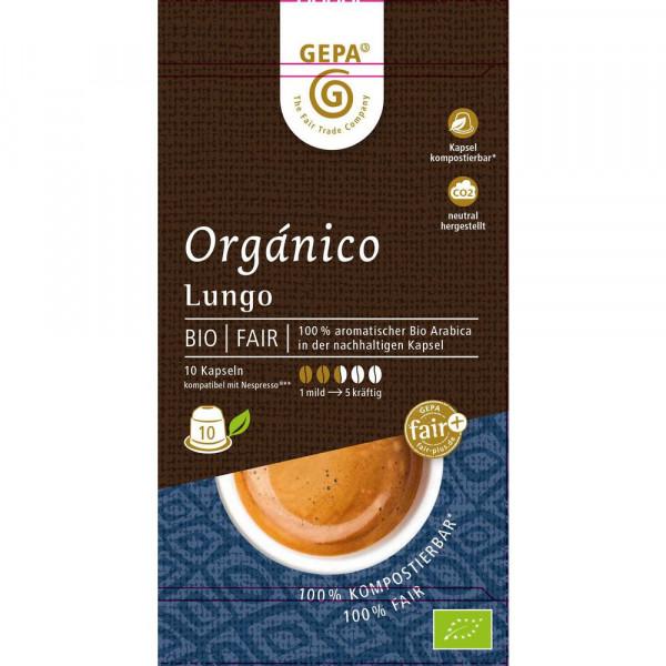 """Kaffee-Kapseln """"Bio Orgánico Lungo"""""""