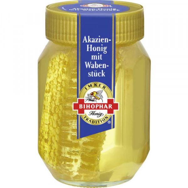 Akazien Honig mit Wabenstück