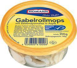 Gabelrollmops in Aspik