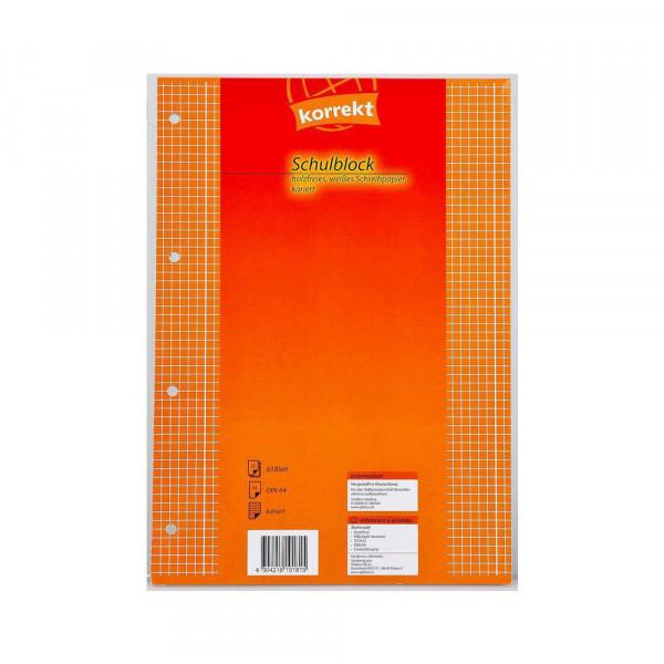 Schulblock A4, Lineatur 28, 50 Blatt