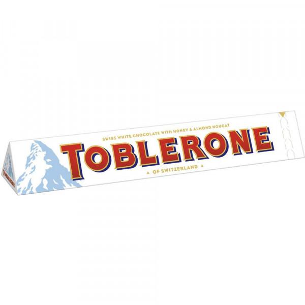 Tafelschokolade Toblerone, weiß
