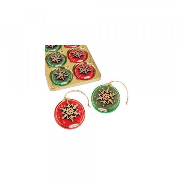 Pralinentaler mit Weihnachtsdekor