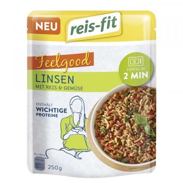"""Reisgericht """"Feelgood"""", Linsen mit Reis & Gemüse"""